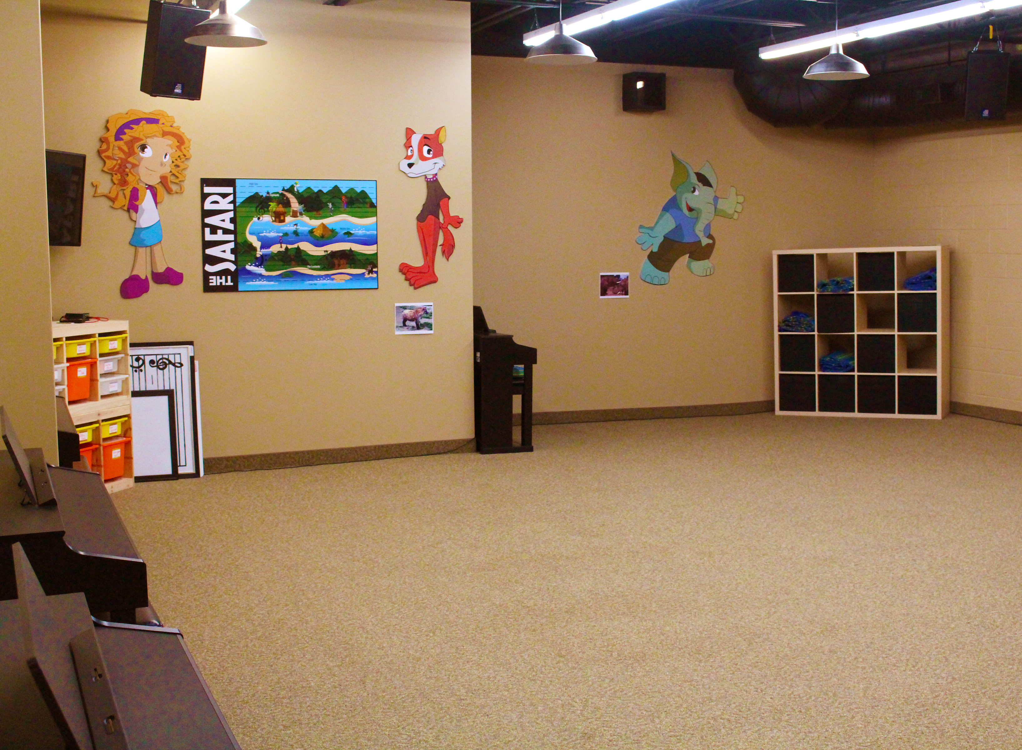 Studio A - almost 1000sf for Music & Theatre Arts