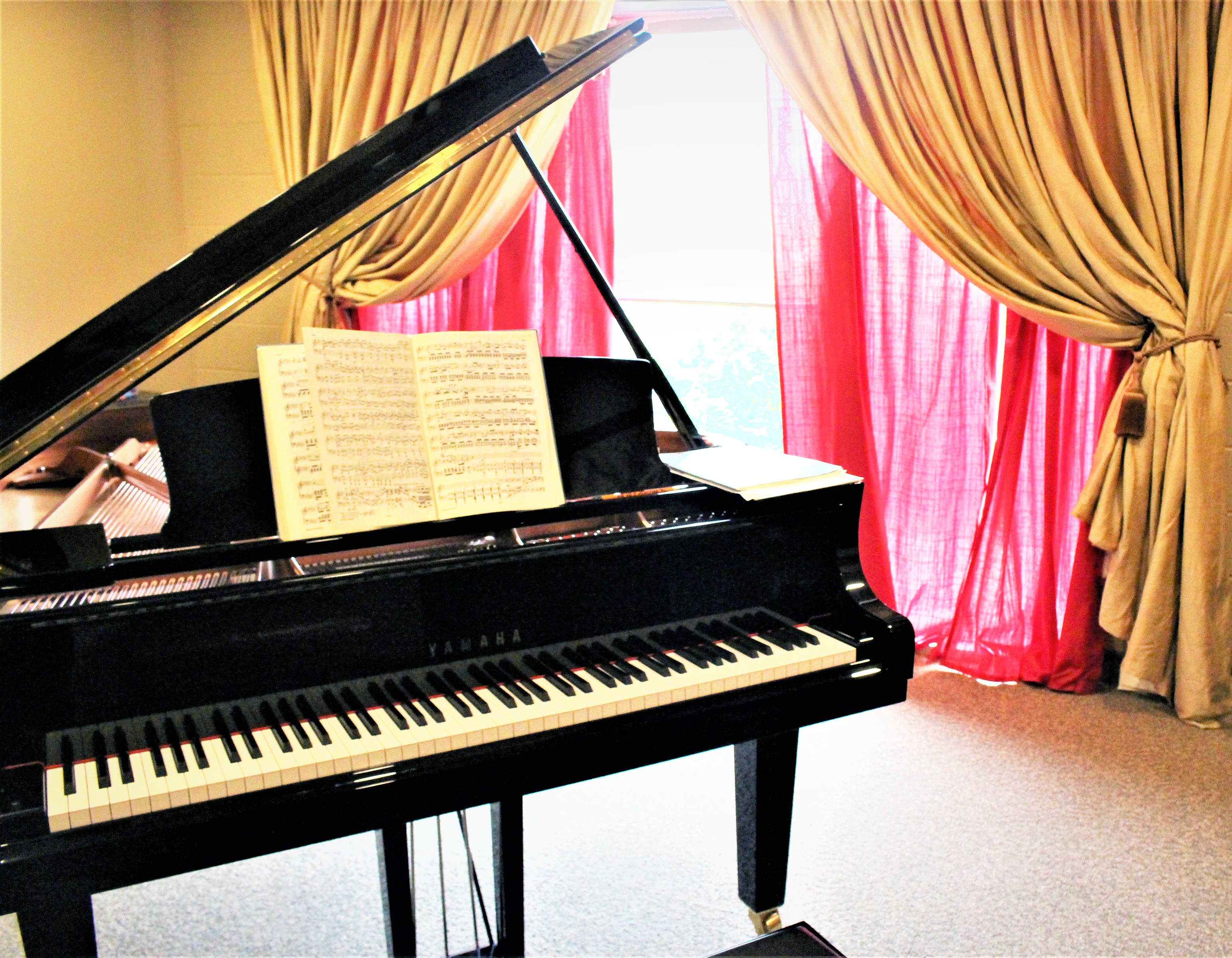 Studio C - Piano & Voice with our new Yamaha Grand